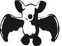Bildbeschreibung: Das Logo: Die Fledermaus, die lächelnd die Flügel spreizt